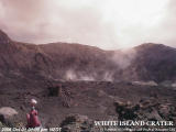 The White Island Volcano Crater Webcam from 1.00pm on 1 October, 2006, on hydro.electric.gen.nz, not GeoNet.